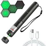 Suu66 Long Range Green Pointer USB Charging, Adjustable Focus Tactical Flashlight Suitable for Night Astronomy Outdoor Camping and Hiking Rechargeable high Power