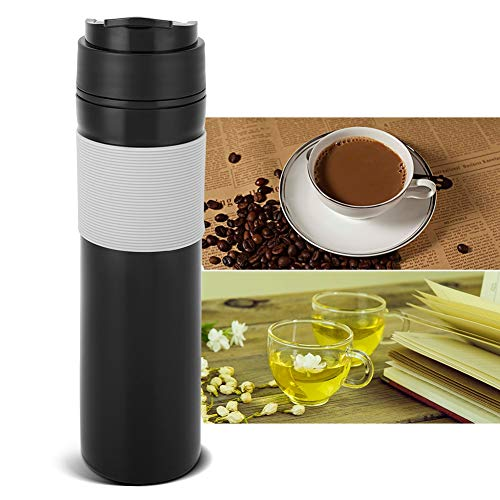 Portable Coffee Maker Cup Press Type Coffee Bottle for Outdoor Office Car Use