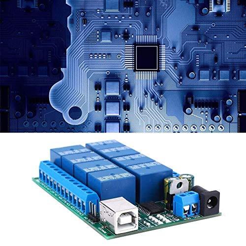 ZJN-JN Relaismodul, DC 12V USB Controller 8-Kanal-UART-Port Relais, Multi-Funktions-PLC-Bewegungsfernsteuerungsmodul, UART serielle Schnittstelle Protokoll, zwei Arten von Anweisungen Relais Steuerung
