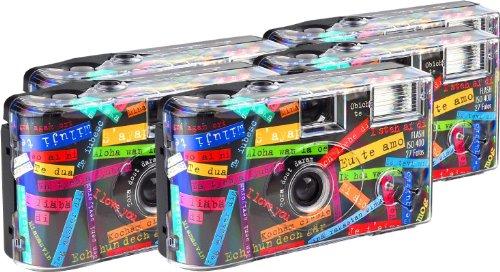 TopShot I mog di - Cámaras Desechables (27 Fotos, Flash, 5 Unidades), Color Crema [Importado de Alemania]