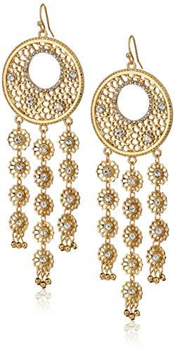 Guess Creolen mit Steinen für Damen, Gold, Einheitsgröße