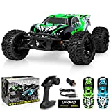 1:10 Scale Brushless RC Cars 65 km/h Speed - Boys Remote Control Car 4x4 Off Road Monster Truck Electric - All Terrain Waterproof Toys for Kids and Adults -2 Body Shell + Connector for 30+ Mins Play