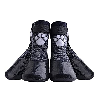 HOMIMP Dog Socks Anti Slip with Straps Traction Control Waterproof Paw Protector from HOMIMP