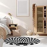 Wishstar 3D Illusion Teppich, Optischer Täuschungsteppich Teppich, Runder Mandala-Teppich Für Wohnzimmer Schlafzimmer Flur Läufer Esszimmer Teppich Fußmatte Anti-schlittern Non Shedding - 6