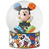 Enesco Disney by Britto Mickey Mouse Waterglobe Waterball, 5.12 Inch, Multicolor