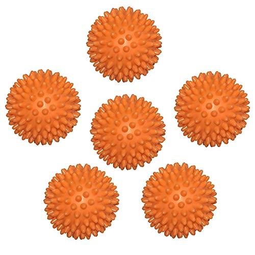 6 Piezas Bolas de Lavado Ecológicas, Bolas de Secado para Secadora, Bolas de Ropa Más Suaves, Bolas de Secadora de Reutilizables, ara Lavar y Secar (Naranja)