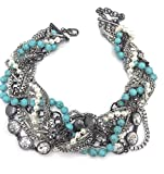 Chloe + Isabel Turquoise + Chain Torsade Necklace