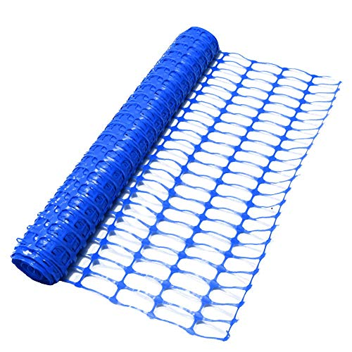 True Products B1005F-Plastikgitter-Sicherheitszaun-Filetarbeits-Rolle, 4 kg, 50 m, Blau