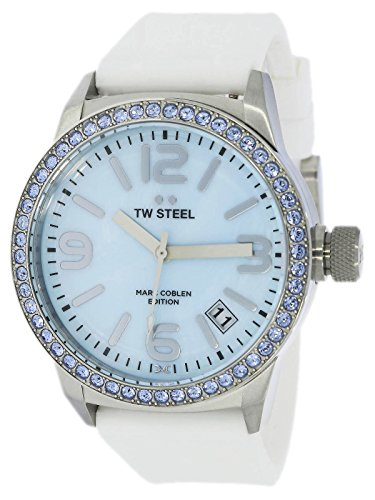 TW Steel Marc Copp Edition met siliconen band 42 MM Blue MOP/White MCPR11