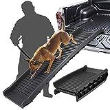Oteymart Foldable Dog Ramp Bi-Fold Pet Ladder for SUV Truck RV Cars,Lightweight Nonslip Travel Dog Ladder for Smaller Medium Large/Older Dogs