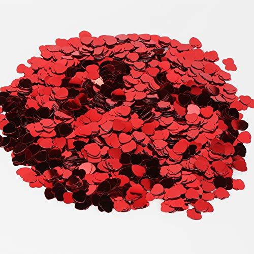 Mitening Herz Konfetti Mehrfarbig, 1cm Herz, 150g, 5000 Stück Sparkle Herz Konfetti Metallisch...