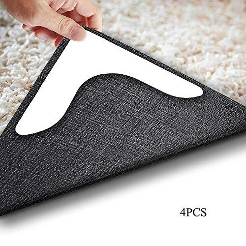 KUOZEN hinterer Griff Rückenstopper Premium Teppichgreifer rutschfeste Aufkleber Teppich Anti-Rutsch-Pads waschbarer Teppichgreifer