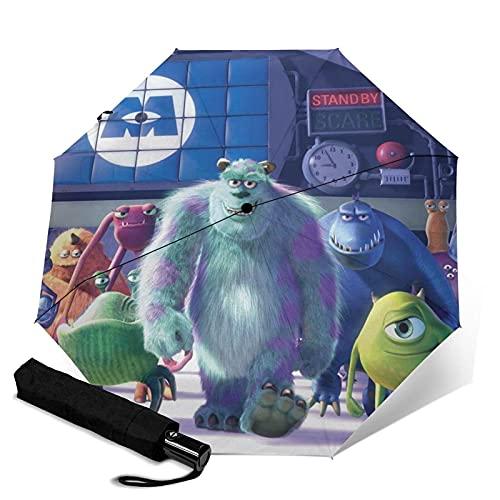 Paraguas plegables Monsters, Inc. Paraguas automatización Portátil de tres pliegues, cortavientos, impermeable, anti-UV, apertura automatización, compacto y Portátil plegable