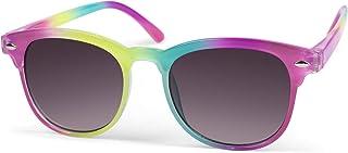 styleBREAKER - gafas de sol «nerd» infantiles con montura colorida, montura de plástico y lentes planas de policarbonato, patillas de plástico 09020090