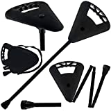 Image of Flipstick Straight Folding Seat Cane Black w/ Black Bag - Non-Adjustable