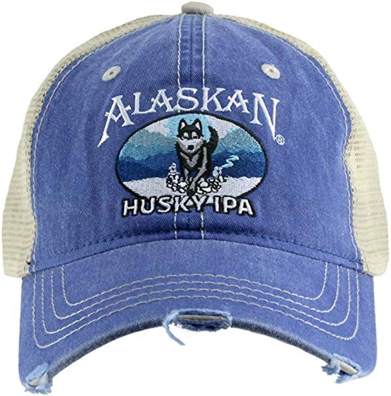 Arctic circle enterprises Alaskan Brewing Husky IPA Dog Vintage Distressed Ball Cap Hat