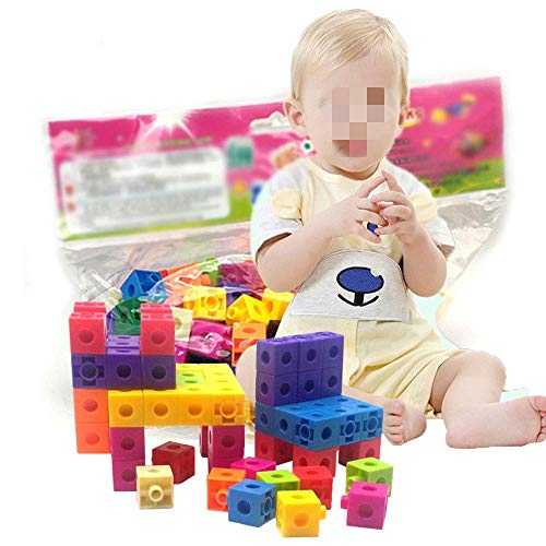 Detazhi Bloque de Madera 128 PCS Juegos de Juguete DIY para niños y niñas niños Mayores de 3 años (Color: Multicolor) (Color : Multicolored)