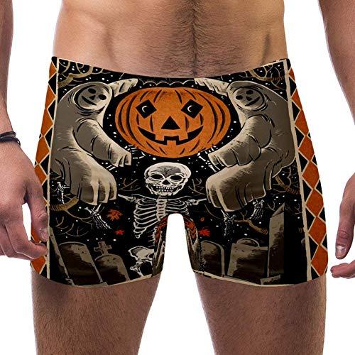 NOBRAND - Bañador para hombre, diseño de Halloween Multicolor multicolor M