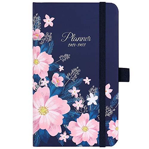 2021-2022 Pocket Planner/Calendar -July 2021- June 2022, Weekly & Monthly Pocket Planner, 6.3''×3.8'', Agenda Planner and Schedule Organizer with Pen Holder