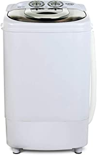 KUPPET Mini Portable Washing Machine for Compact Laundry, 11lbs Capacity, Small Compact Washer with Timer Control Single Translucent Tub