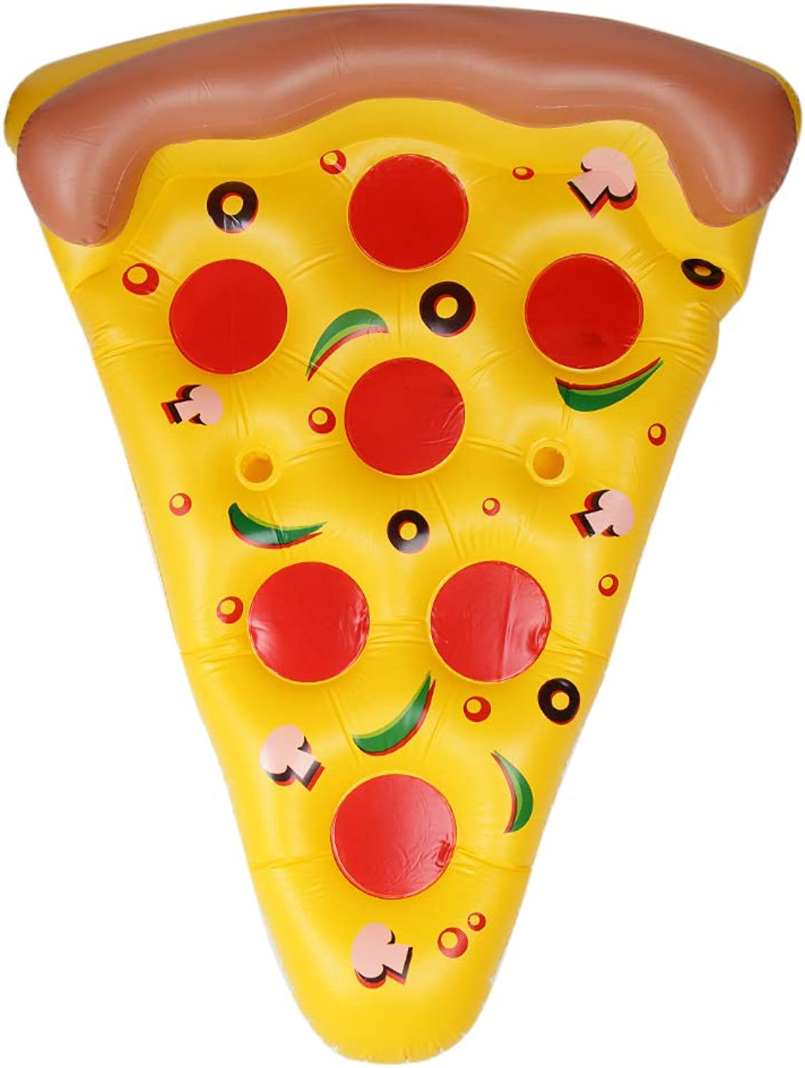 Homyl Inflatable Pizza Slice Summer Beach Lounger Float Swim Pool Air Tubes Water Toy