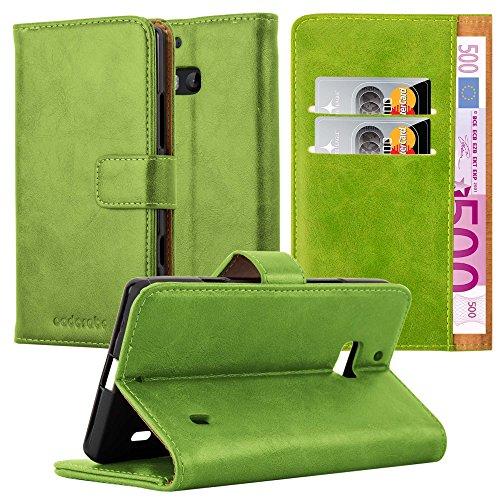 Cadorabo Nokia Lumia 929/930 Hülle in Gras GRÜN Handyhülle Luxury Design mit Magnetverschluss Standfunktion und Kartenfach Case Cover Schutzhülle Etui Tasche Book Klapp Style