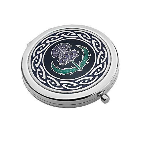 Meer versilbert Gems 8013 Distel Taschenspiegel
