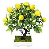 DEI Planta artificial de bonsái simulación de árbol de frutas en maceta, de...