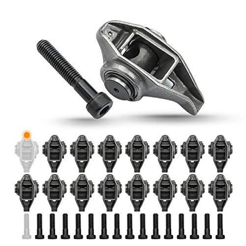 Tepeng 16 Pcs LS Rocker Arms with Bolts Compatible with LS1 LS2 LS6 LR4 Vortec 5300 LM7 L59 LM4 L33 Chevrolet GMC 4.8L 5.3L 5.7L 6.0L Engines Replace 10214664