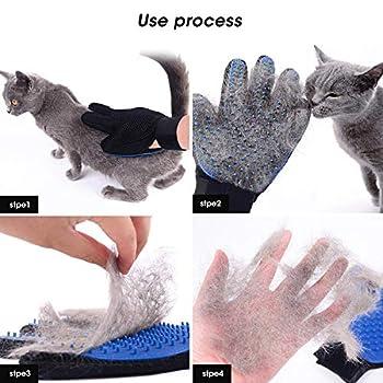 Gant de Toilettage Brosse de Nettoyage Magique Gant de Massage pour Animaux pour Les Chiens et Chats Réutilisable Brosse Anti Poils Animaux