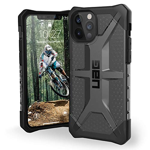 URBAN ARMOR GEAR UAG Designed for iPhone 12 Case/iPhone 12 Pro Case [6.1-inch Screen] Rugged Lightweight Slim Shockproof Transparent Plasma Protective Cover, Ash
