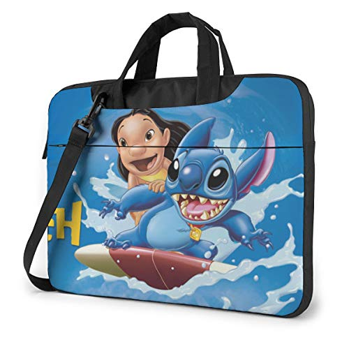 Li-Lo and Sti-Tch Shakeproof Waterproof Laptop Messenger Shoulder Bag Case Sleeve Briefcase with Adjustable Shoulder Strap for 13 Inch 14 Inch 15.6 Inch