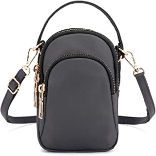 feelingood Women Shoulder Crossbody Bag Zipper Portable Mini for Mobile Phone Earphone Keys