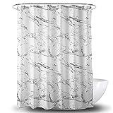 CXL 3D Digitaldruck Marmor Muster Duschvorhang Wasserdichter Polyester Stoff Bad Trennwand Vorhang