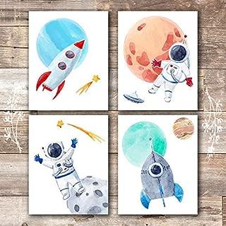 Kids Space Decor Art Prints (Set of 4) - Unframed - 8x10s