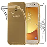 ebestStar - kompatibel mit Samsung Galaxy J5 2017 Hülle SM-J530F Handyhülle [Ultra Dünn], Klar Flex Silikon Schutzhülle, Transparent +Panzerglas Schutzfolie [Phone: 146.2 x71.3 x7.9mm 5.2