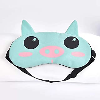 Asdfnfa (Two Pairs) Cartoon Cute Sleep Blackout Goggles Men and Women Breathable Ice Bag Hot and Cold Double Sleeping Nap Eye Mask asdfnfa (Style : 5)