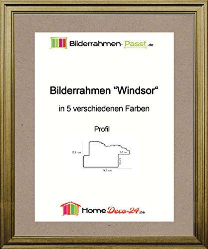 Windsor Klassik Barock Bilderrahmen 66 x 68 cm Farbe und Verglasung wählbar 68 x 66 cm hier: Alt...