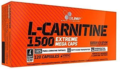 Olimp L-Carnitine 1500 Extreme Mega Capsules - Pack of 120 Capsules