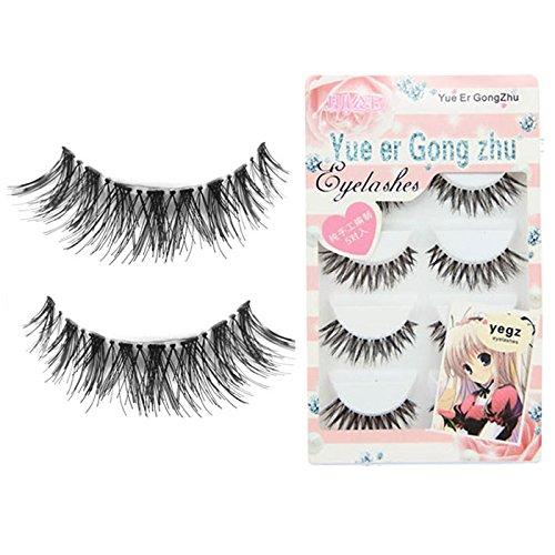 LUBITY Fau Cils Magnétique 5 paires/Lot Entrecroisées False Eyelashes CilsVolumineux pour Yeux Grappes Japonaises