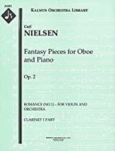Fantasy Pieces for Oboe and Piano, Op.2 (Romance (No.1) – for violin and orchestra): Clarinet 1 and 2 parts (Qty 2 each) [A6481]