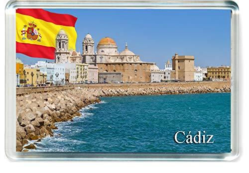 H283 Cádiz Imán para Nevera Spain Travel Fridge Magnet