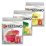 Tassimo Twinings Lote de 48 cápsulas de té, 3 tipos: frutos del bosque, Earl Grey, té verde