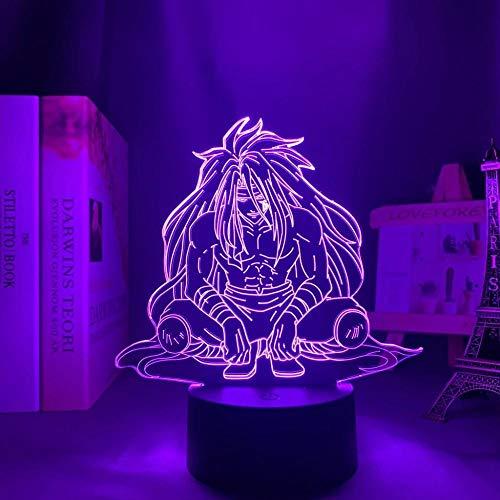 Lámpara LED 3D ilusión ilusión lámpara de escritorio anime japonesa luz Yuyu Hakusho Raizen lamp,para niños dormitorio decoracion nocturna regalo de cumpleaños manga gadget