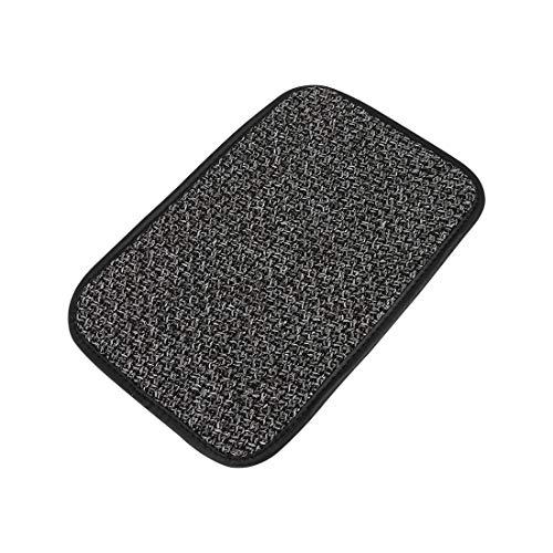 X AUTOHAUX Universal Gris consola central tapa reposabrazos, almohadilla de lino para coche vehículo