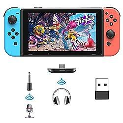 Compatibilité Multi-appareils : ce commutateur émetteur audio Bluetooth fonctionne pour Nintendo Switch, PS4, PC, TV, ordinateur portable, etc. Offre une bonne solution pour permettre d'utiliser des ordinateurs non Bluetooth ou d'autres appareils d'u...