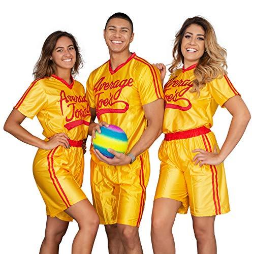 Dodgeball Average Joe's Adult Yellow Jersey Costume Set (XXX-Large)