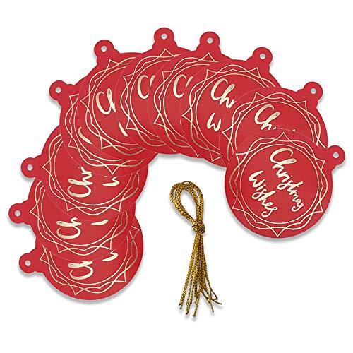 Schone Products (UK) - Etichette regalo, confezione da 10, colore: rosso