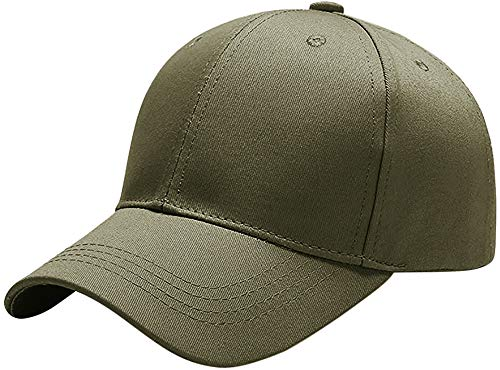 Yidarton Unisex Kappe Outdoor Baseball Cap Verstellbar Erwachsenen Mütze Casual Cool Mode Baseballmütze Hip Hop Flat Hüte (Olivgrün)