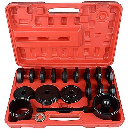 BELEY 23 STÜCKE Adapter für Vorderradantriebslager Abzieher Satz Werkzeugsatz Radlager Werkzeug Zum Entfernen Und Installieren Der Nabe